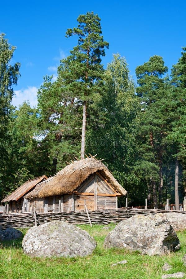 Village de Vikings images stock