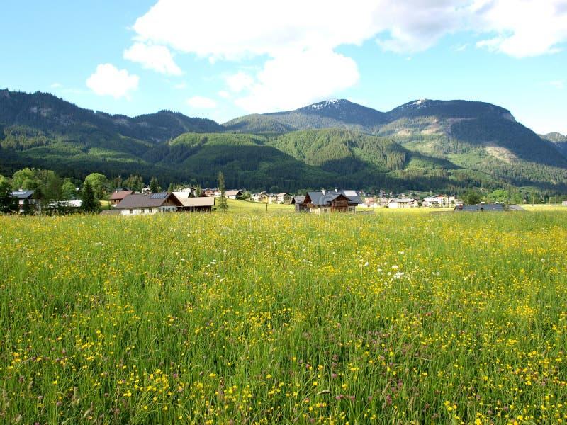 village de vue image stock