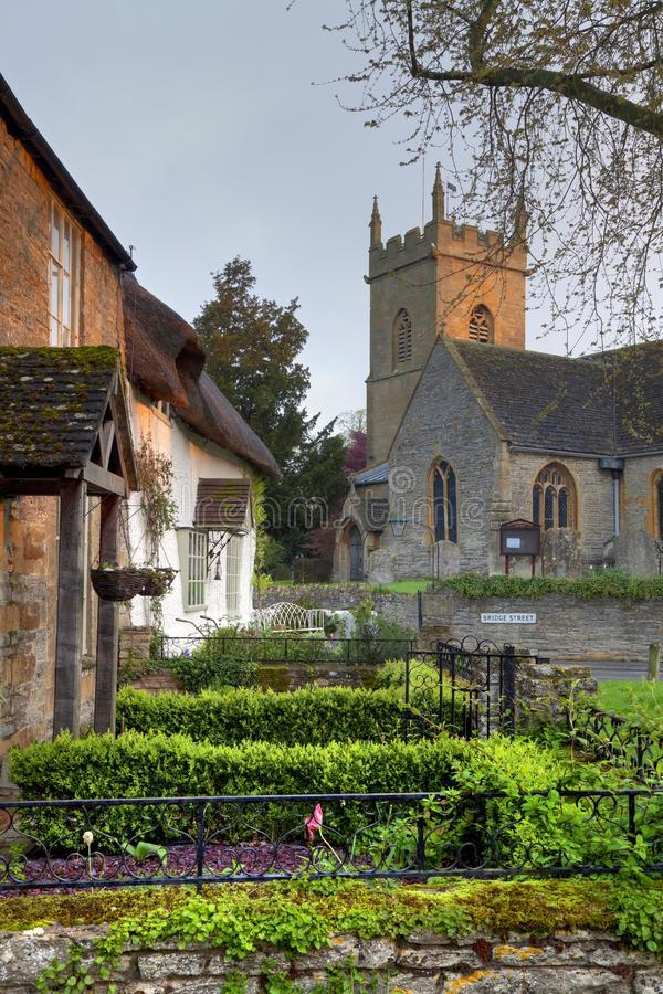 Village de Worcestershire images libres de droits