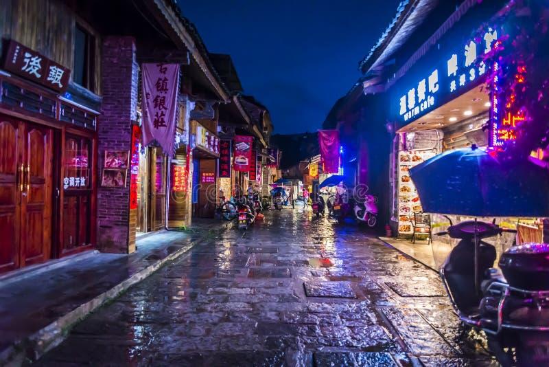 Village de Xingping, région de Guilin, province de Guangxi, Chine photographie stock