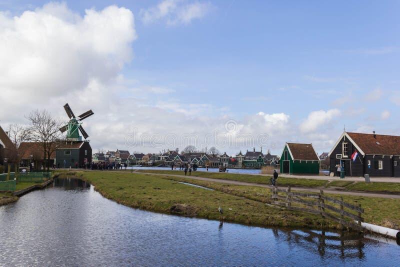 Village de Zaanse Schans image libre de droits
