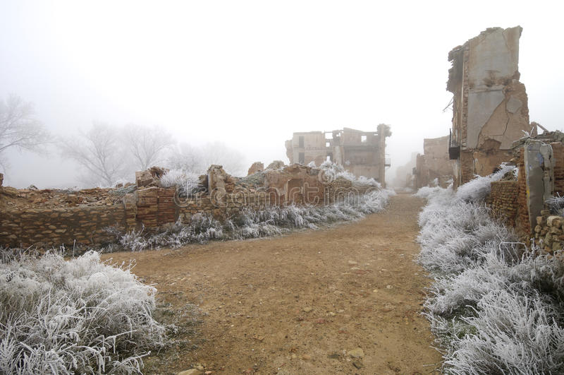 Village demolished royalty free stock photos