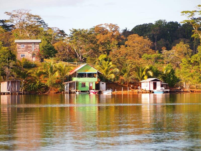 Village des Caraïbes photo stock