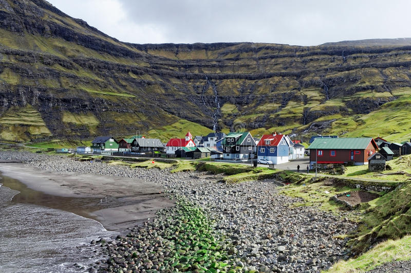 Village des Iles Féroé photo libre de droits