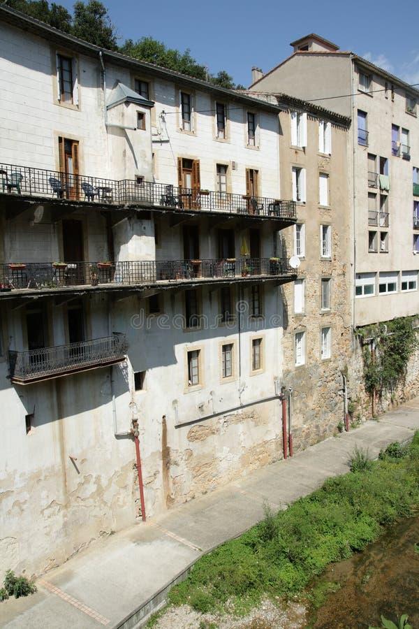 Village des les Bains de Rennes dans Corbieres photo libre de droits