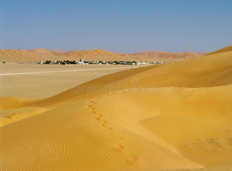 Village in the desert, Oman royalty free stock images