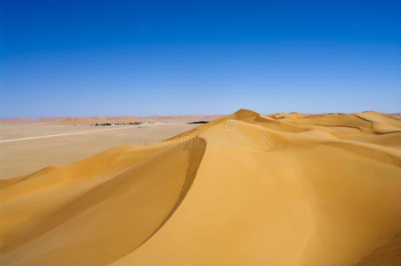 Village in the desert, Oman stock image