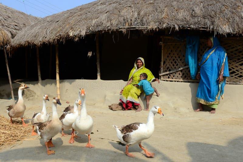 Village du Bengale-Occidental photos libres de droits