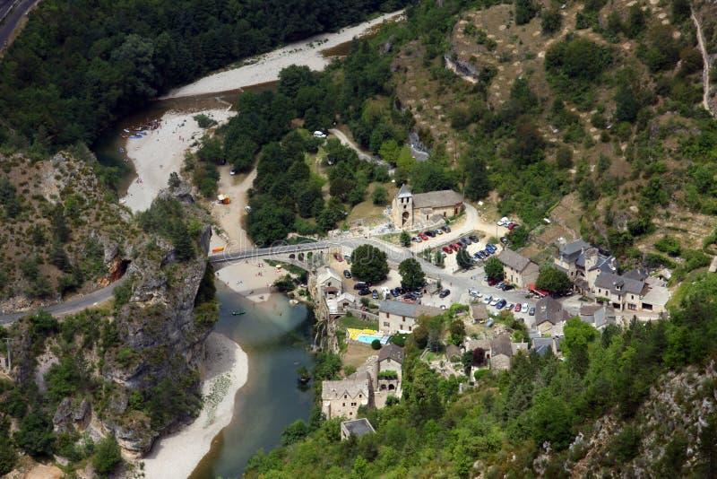 Village du Saint-Chely-du-Tarn   photo libre de droits