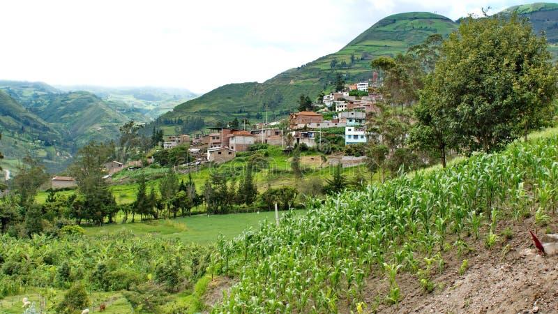 Village en Equateur image stock