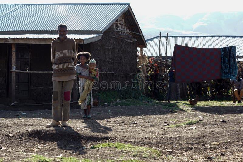 Village en Ethiopie photos stock