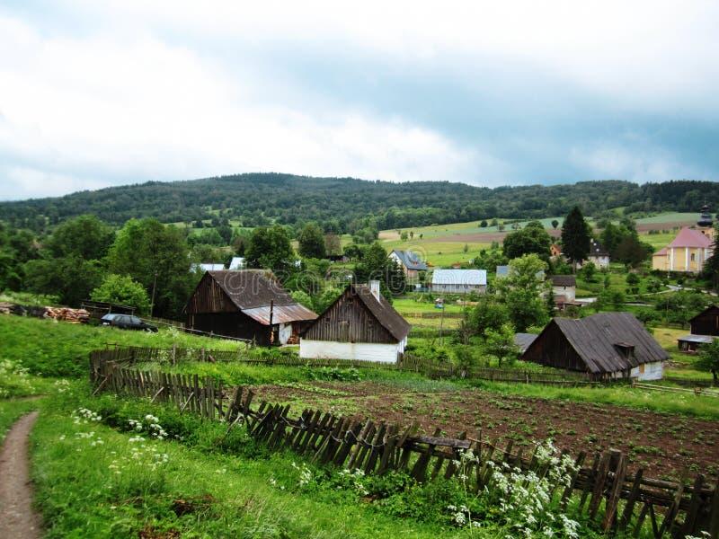 Village en Pologne image libre de droits