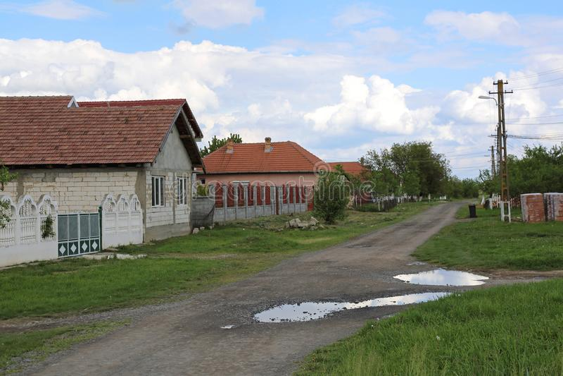 Village en Roumanie photos libres de droits