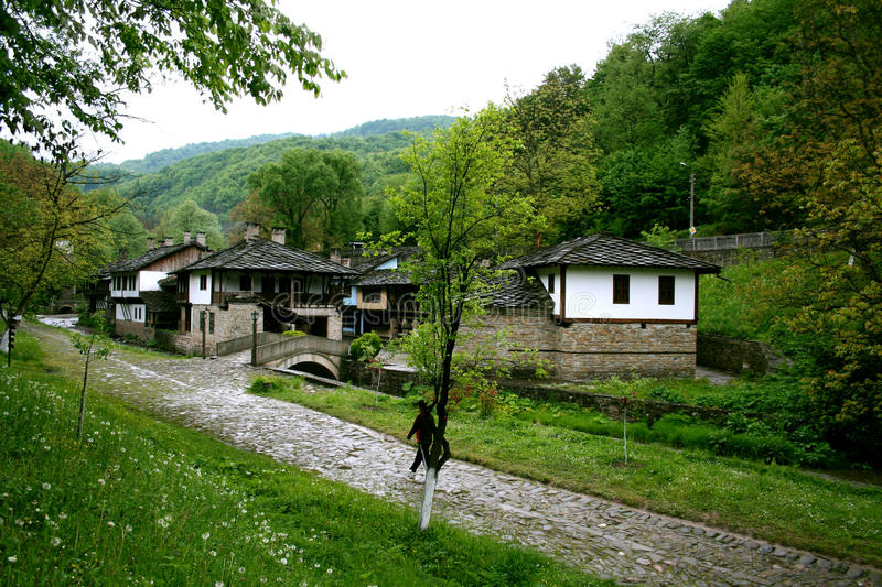 The village of Etara in Bulgaria stock images
