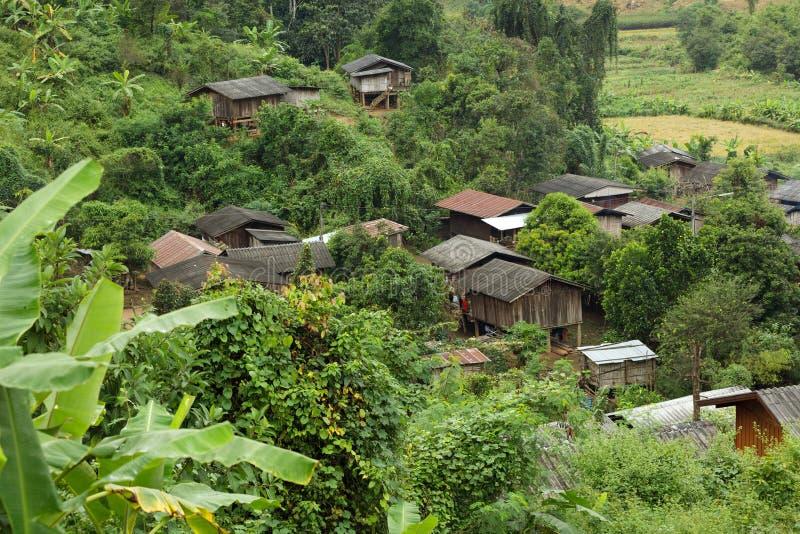 Village ethnique thaïlandais images stock