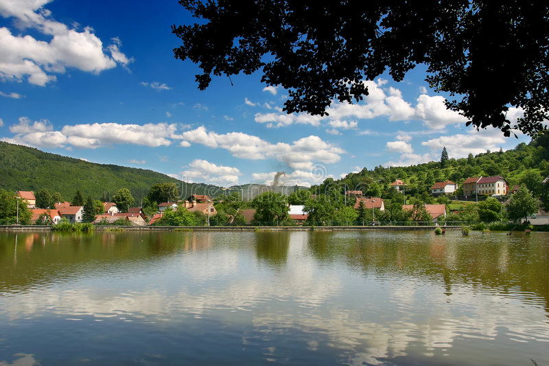 Village in europe. Photo of the image in Europe. Shot in Czech Republic stock photography