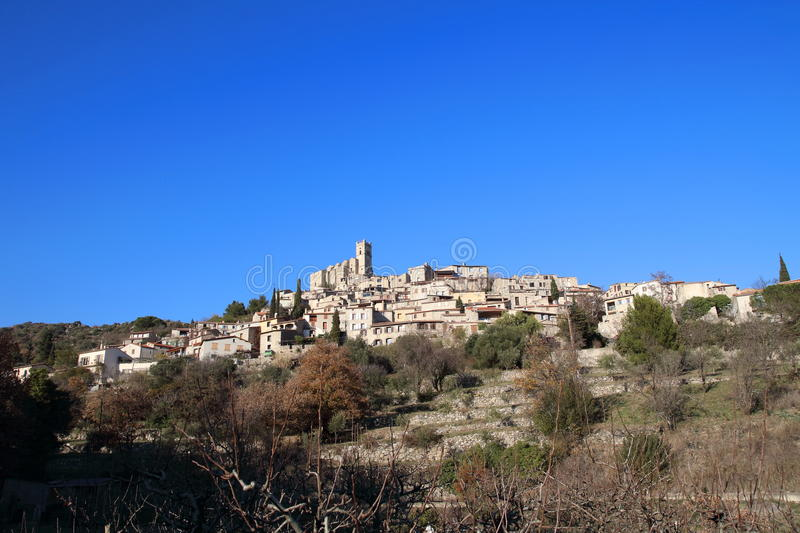 Village of Eus in France royalty free stock images