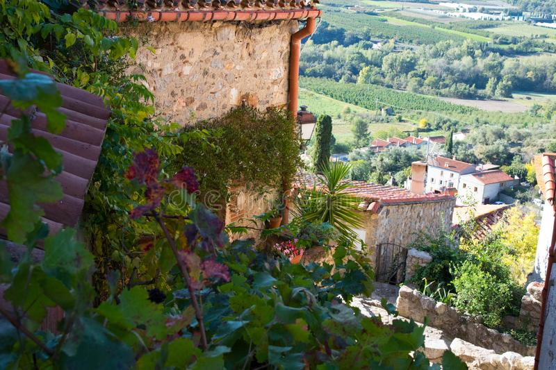The village of Eus in France royalty free stock image