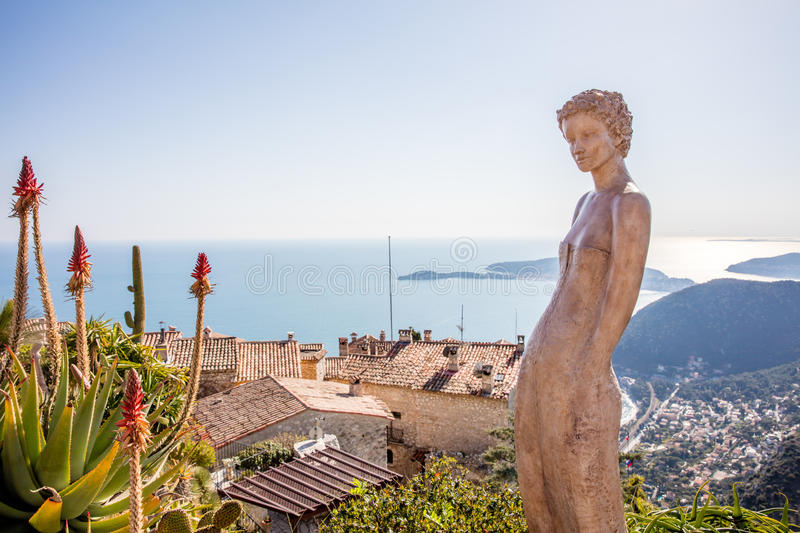 The village of Eze in Provence, French stock image