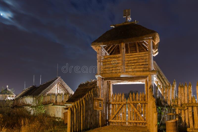 Village faktory de commerce antique dans Pruszcz Gdanski, Pologne images stock