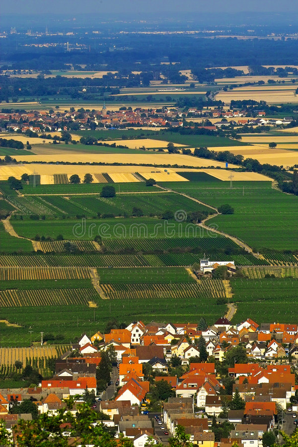 Village in fields royalty free stock photos