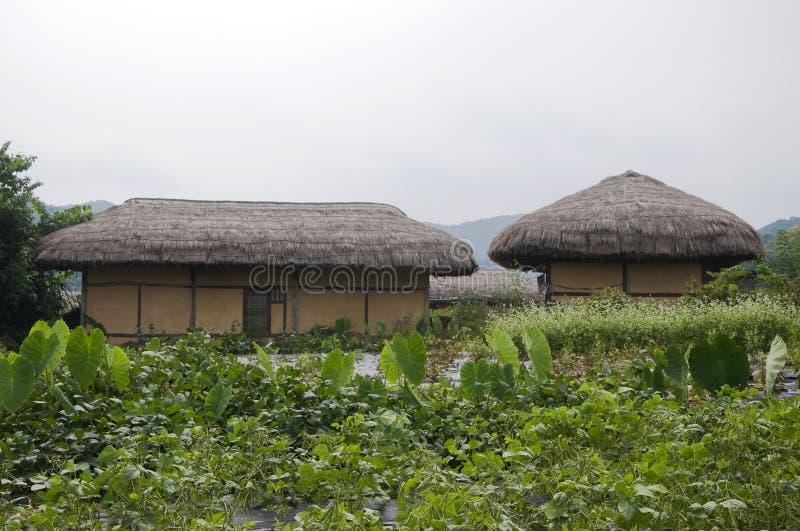 Village folklorique de Hahoe, Corée du Sud photographie stock