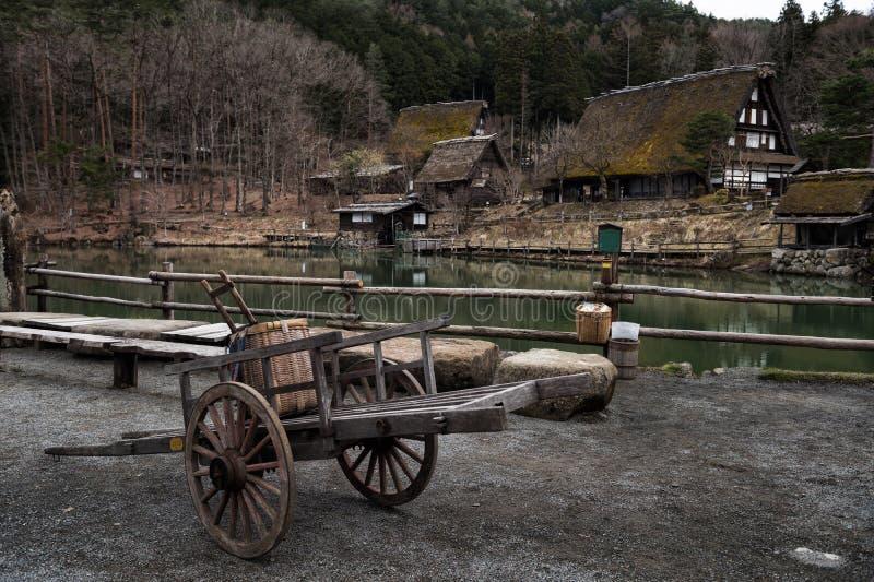 Village folklorique de Hida dans Takayama photos stock