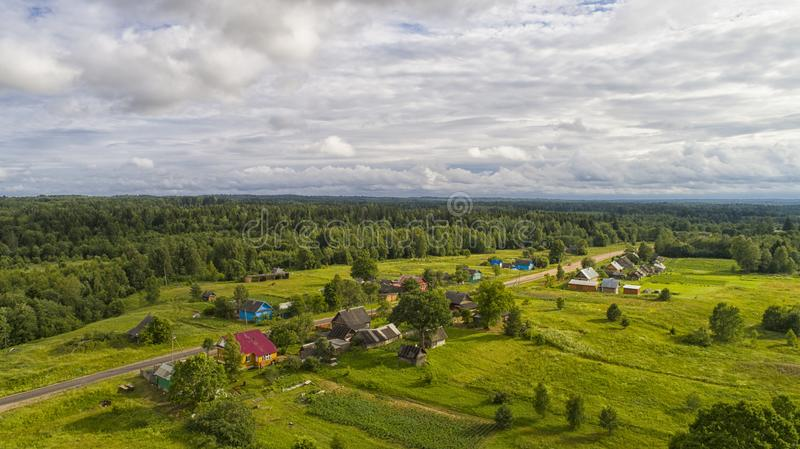 Village in the forest royalty free stock photos