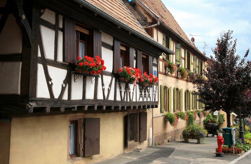 Village français photo stock