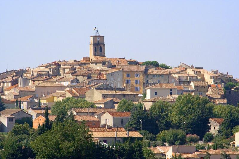 Village français de vin de Sablet photos stock