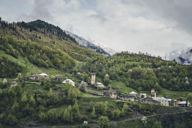 Village géorgien antique national photo libre de droits