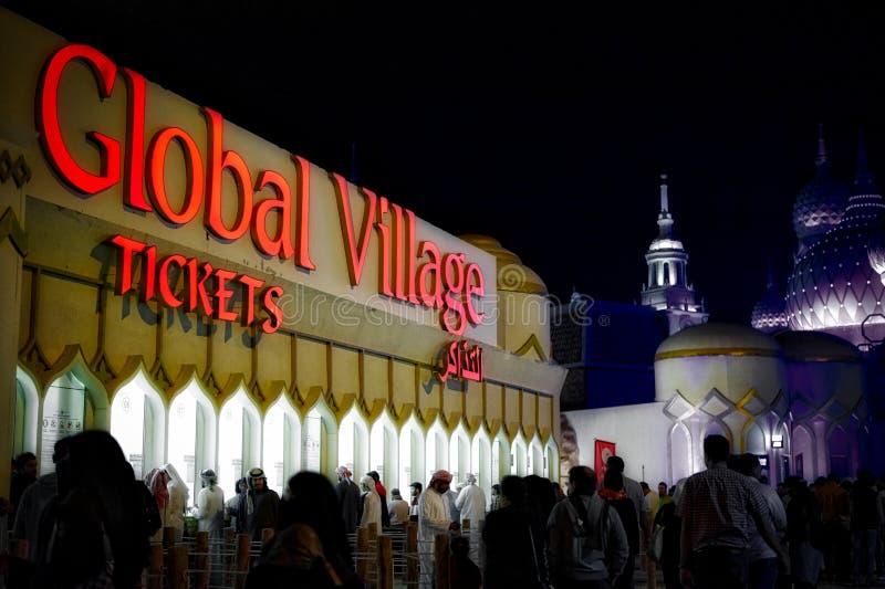 Download Village Global, Dubaï, Emirats Arabes Unis Image stock éditorial - Image du signe, visiteurs: 77155844