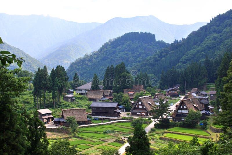 Village Gokayama. Le Japon image stock