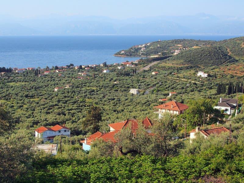 Village grec image stock