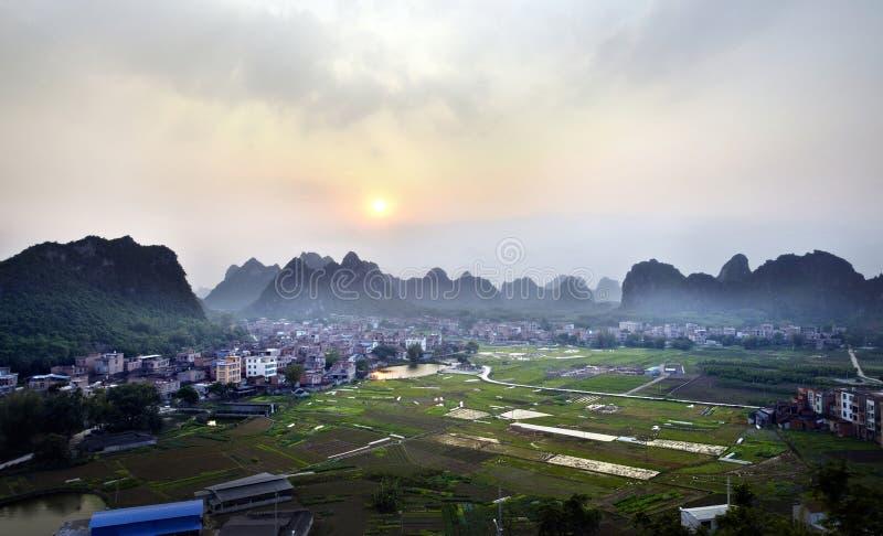 Village green outdoor environment