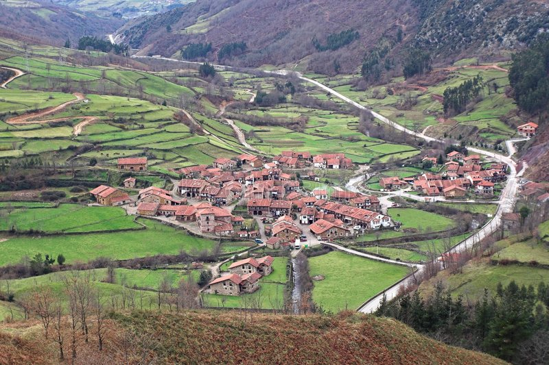 Village of green Spain royalty free stock image