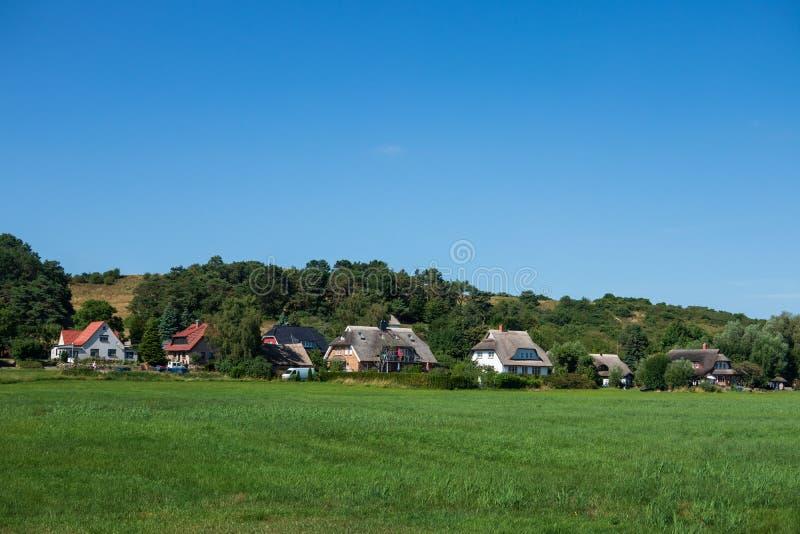 The village Gross Zicker on Ruegen in Germany royalty free stock images