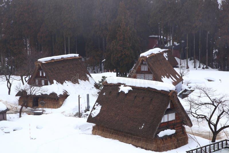 Village historique de Gokayama photo stock