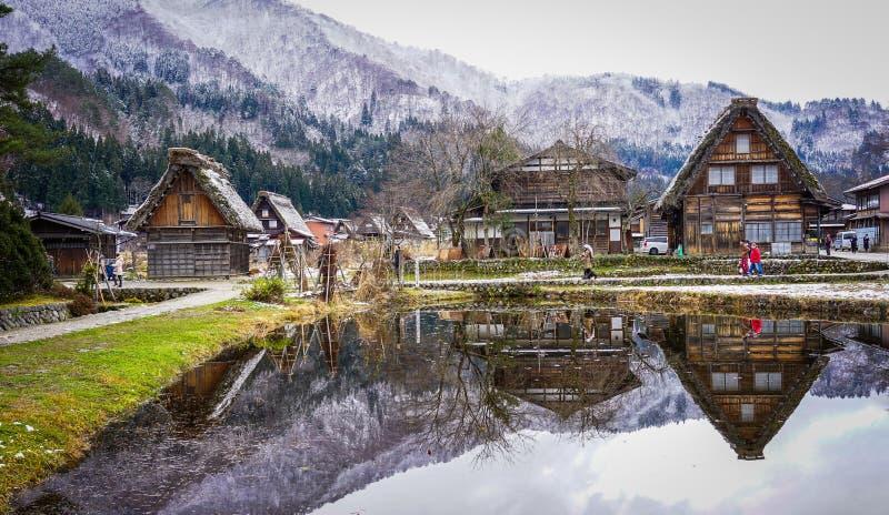 Village historique de Shirakawago à Gifu, Japon photographie stock libre de droits