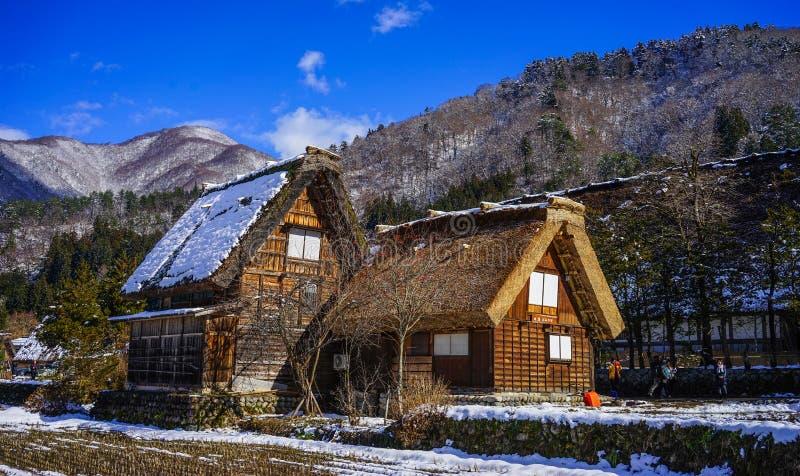 Village historique de Shirakawago à Gifu, Japon image stock