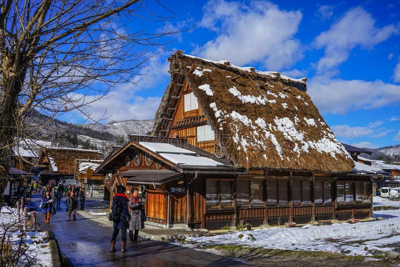 Village historique de Shirakawago à Gifu, Japon photos stock