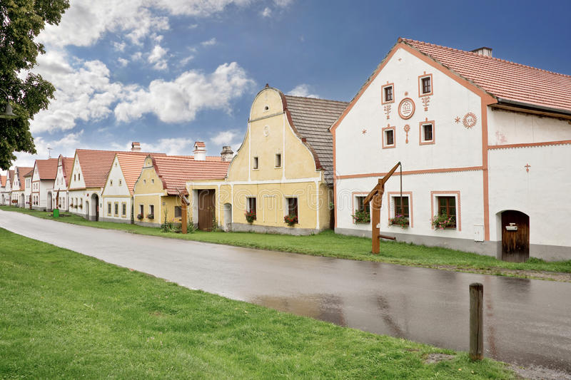 Village of Holasovice, Bohemia. Czech Republic royalty free stock images