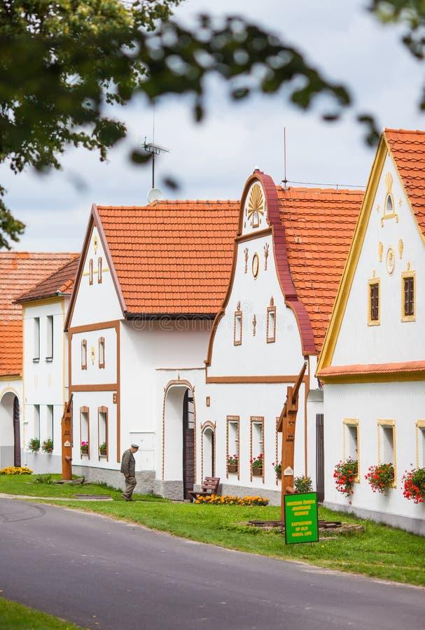 Village Holasovice, Czech Republic. UNESCO royalty free stock photo
