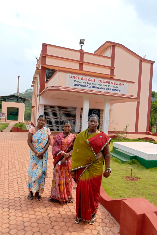 Village Hospital. Not only for mines worker poor villagers are also benefited by this hospital at Barbil-Orissa.The region around Barbil has the fifth largest royalty free stock photos