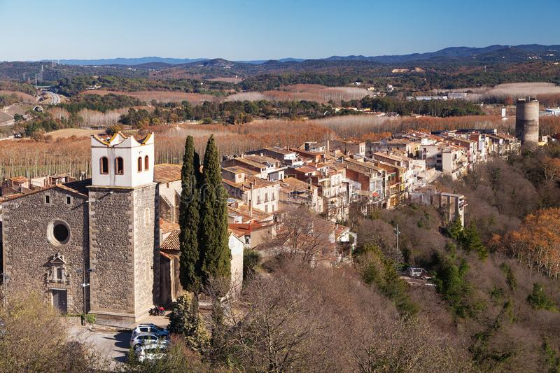Village of Hostalric royalty free stock photography