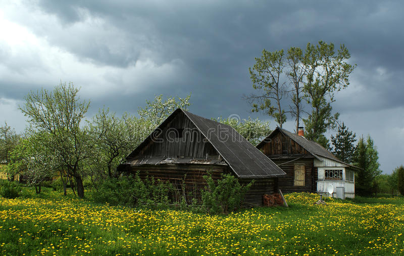 Village house, Novgorod region, Russia royalty free stock image