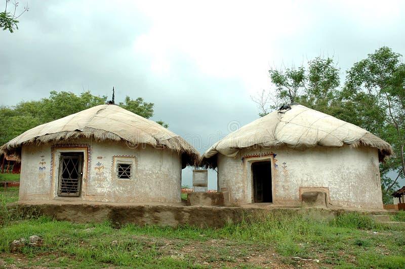 Village huts at Udaipur stock images