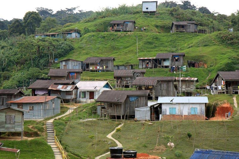 Village indigène de la Malaisie images stock
