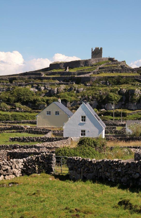 Village in Inisheer, Aran Islands, Ireland. Village and old ruins in Inisheer, Aran Islands, Ireland stock images