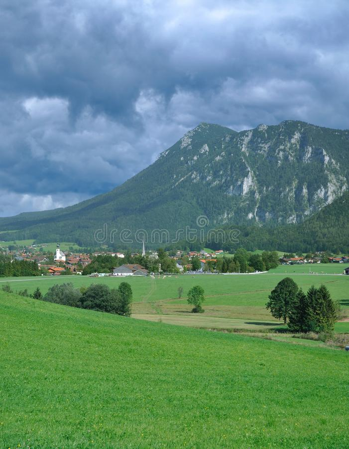 Village of Inzell,Chiemgau,upper Bavaria,Germany royalty free stock images
